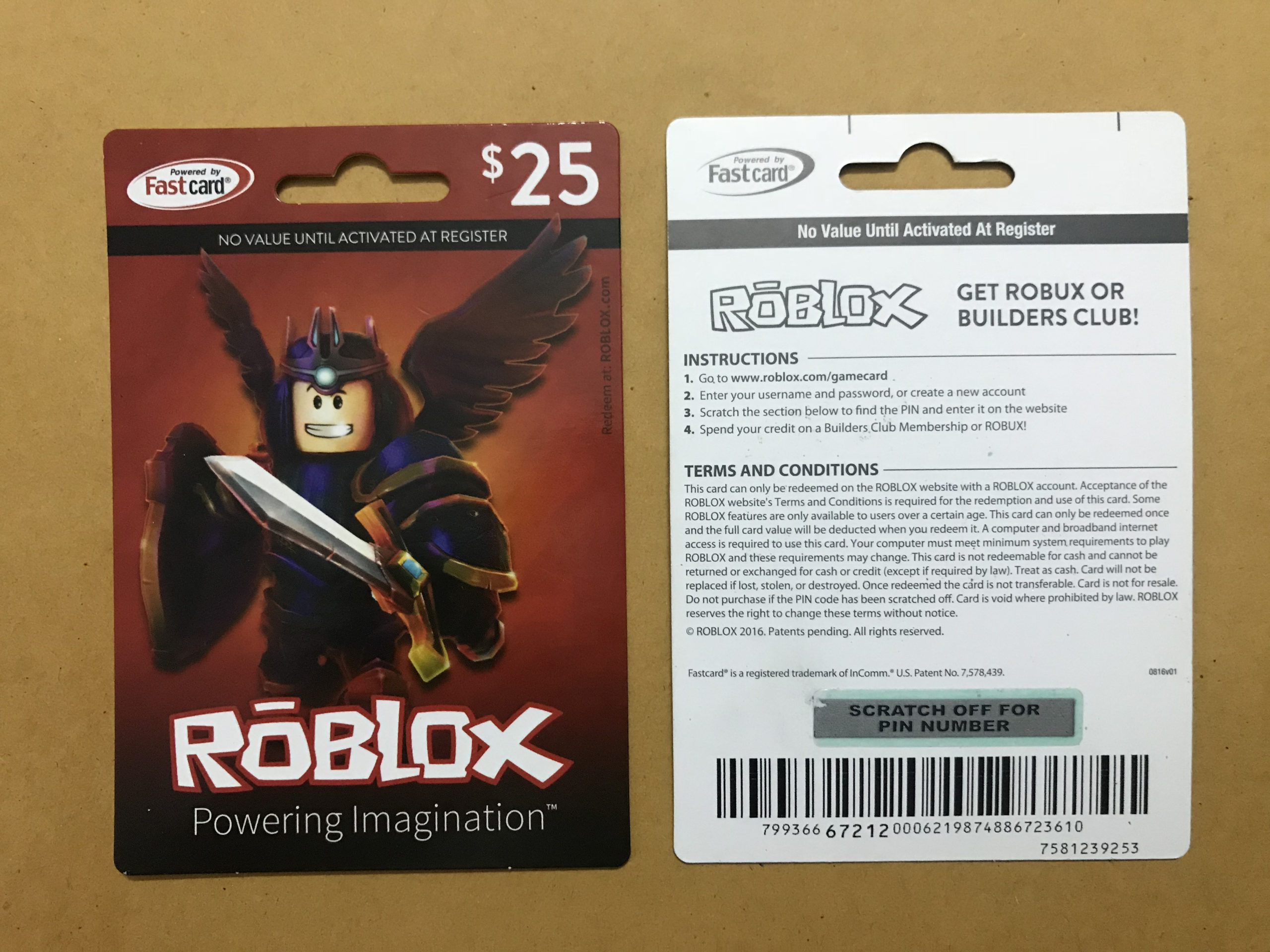 Roblox Gift Cards $25